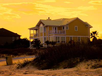 Yellow Beauty At Isle Of Palms Poster by Kendall Kessler