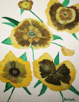 Yellow Floral Burst Poster by Bamhs Blair