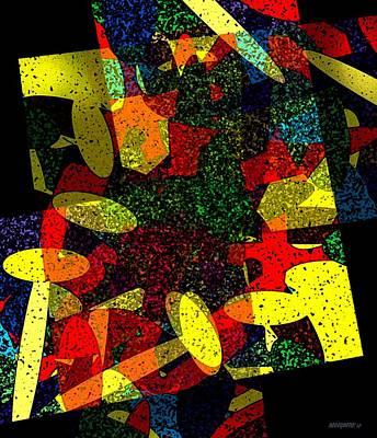 Yellow Geometric Art Poster by Mario Perez