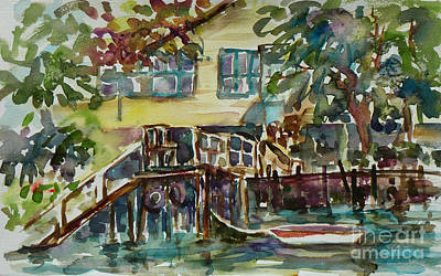 Yellow House By The River Poster by Xueling Zou