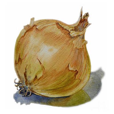 Yellow Onion Poster by Irina Sztukowski