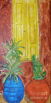 Yellow Shutters Poster by Marcia Weller-Wenbert