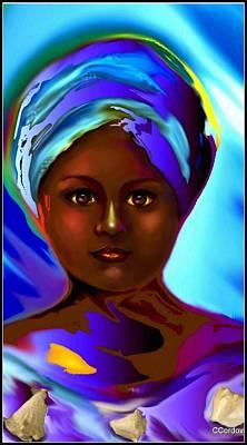 Yemaya -the Mother Goddess Poster by Carmen Cordova