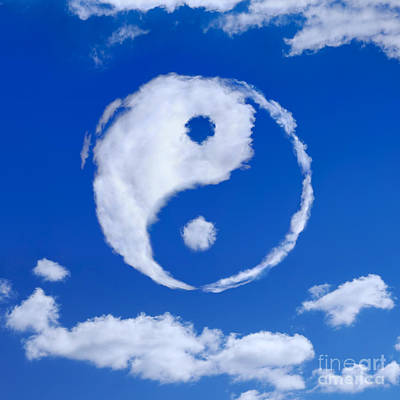 Yin-yang Symbol Made Of Clouds Poster by Oleksiy Maksymenko