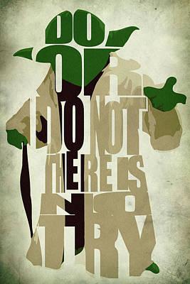 Yoda - Star Wars Poster by Ayse Deniz