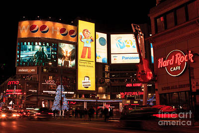 Yonge-dundas Square At Night Poster by Igor Kislev