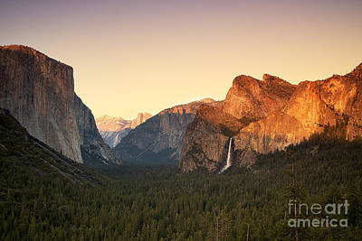 Yosemite Valley Sunset Poster by Jane Rix