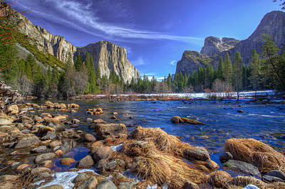 Yosemite's Valley View Poster by Mike Lee