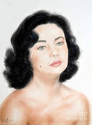 Young Liz Taylor Portrait Remake Poster by Jim Fitzpatrick