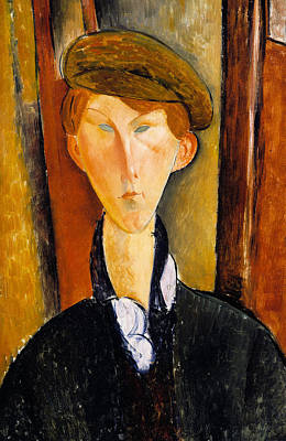 Young Man With Cap Poster by Amedeo Modigliani