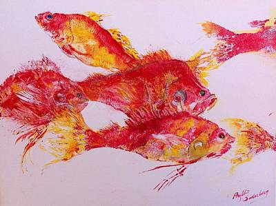 Young Snapper Family Poster by Phyllis Soderberg
