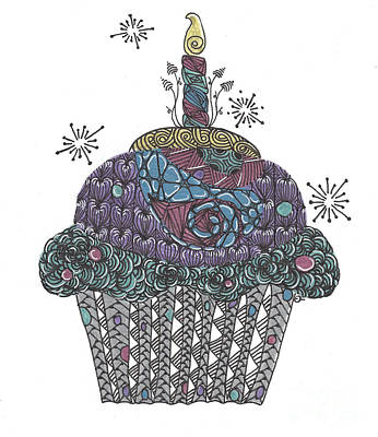 Yummy Cupcake Poster by Dianne Ferrer