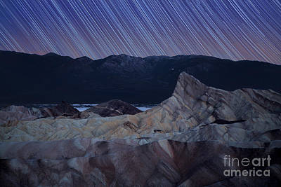 Zabriskie Point Star Trails Poster by Jane Rix