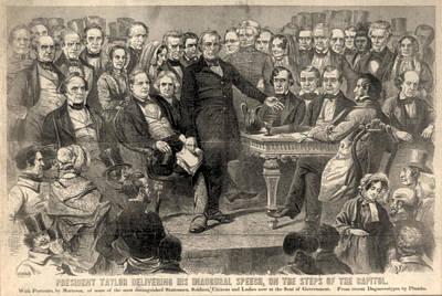 Zachary Taylor. Inauguration Of Zachary Poster by Everett