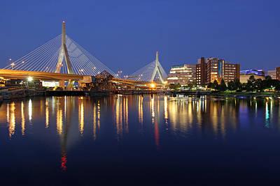 Zakim Bridge In Boston Poster by Juergen Roth