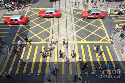 Zebra Crossing - Hong Kong Poster by Matteo Colombo