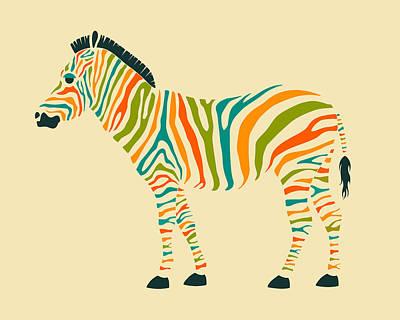 Zebra Poster by Jazzberry Blue