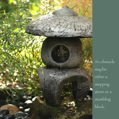 Zen Garden With Quote Poster by Heidi Hermes