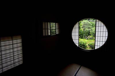 Zen Temple Tea House Interior - Kyoto Japan Poster by Daniel Hagerman