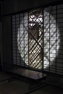 Zen Temple Window - Kyoto Poster by Daniel Hagerman