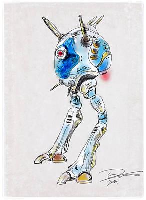 Zentraedi Battle Pod Poster by Tim Nichols