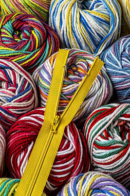 Zipper And Yarn Poster by Garry Gay