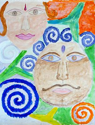 Faces Poster by Sonali Gangane
