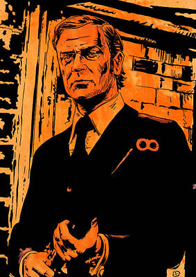 Michael Caine Poster by Giuseppe Cristiano