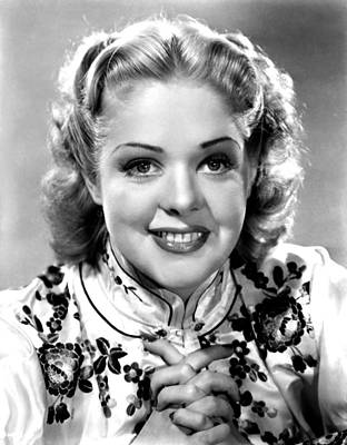Alice Faye, Ca. Late 1930s Poster by Everett