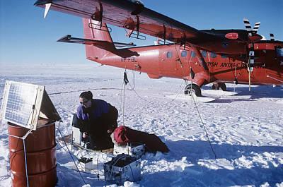 Antarctic Research Poster by David Vaughan