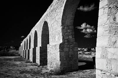 Arches Of The Kamares Aqueduct Larnaca Republic Of Cyprus Europe Poster by Joe Fox