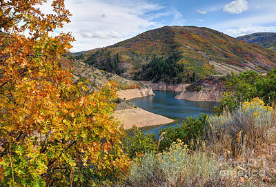 Autumn At Causey Reservoir - Utah Poster by Gary Whitton