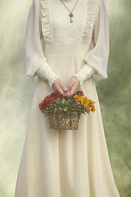 Basket With Flowers Poster by Joana Kruse