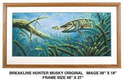 Breakline Hunter Musky Poster by JQ Licensing