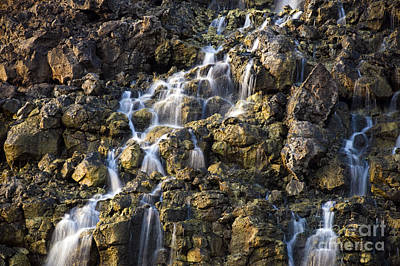Brine Falls From Volcanic Rock Drop Poster by Stocktrek Images