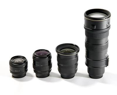Camera Lenses Poster by Johnny Greig