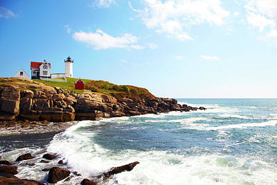 Cape Neddick nubble Lighthouse Poster by Thomas Northcut