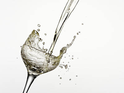 Champagne Being Poured Into Glass Poster by Andy Roberts