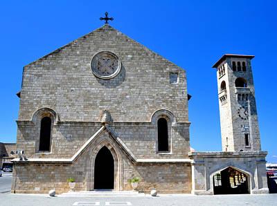 Church Of The Annunciation. Rhodes. Poster by Fernando Barozza