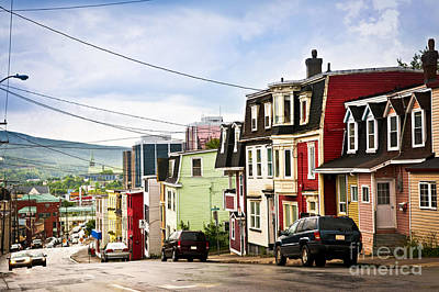 Colorful Houses In Newfoundland Poster by Elena Elisseeva