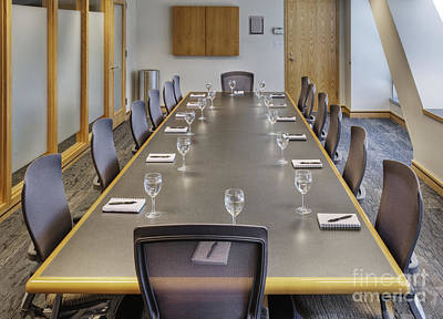 Conference Table And Chairs Poster by Andersen Ross