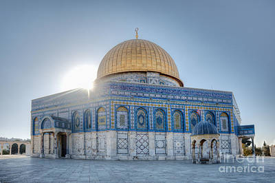 Dome Of The Rock Poster by Noam Armonn