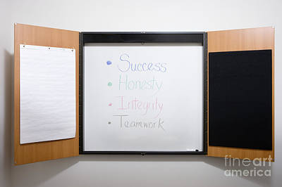 Dry Erase Board Poster by Andersen Ross