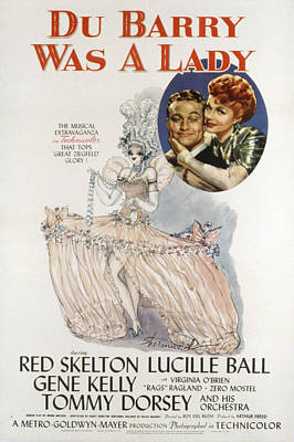 Du Barry Was A Lady, Red Skelton Poster by Everett