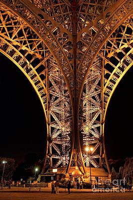 Eiffel Tower At Night Poster by Joerg Lingnau
