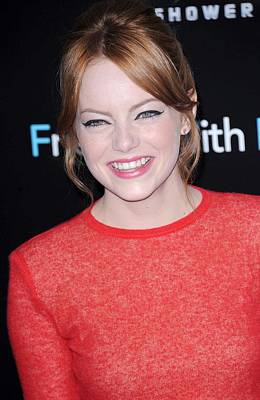 Emma Stone At Arrivals For Friends With Poster by Everett