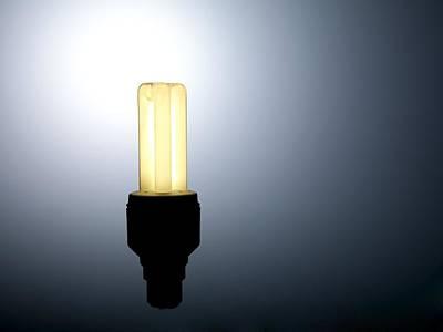 Energy-saving Light Bulb Poster by Tek Image