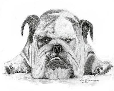 English Bulldog Poster by Jim Hubbard