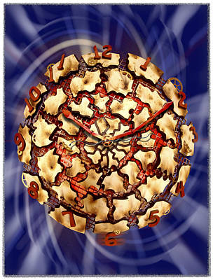 Exploding Clock Poster by Mike McGlothlen