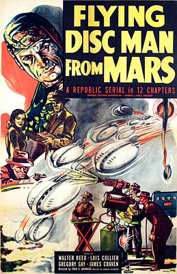 Flying Disc Man From Mars, 1950 Poster by Everett